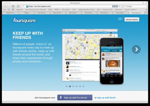 web de foursquare