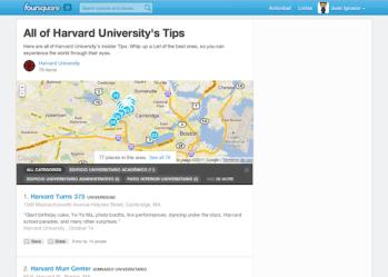 mapa de puntos de interés de la Universidad de Harvard