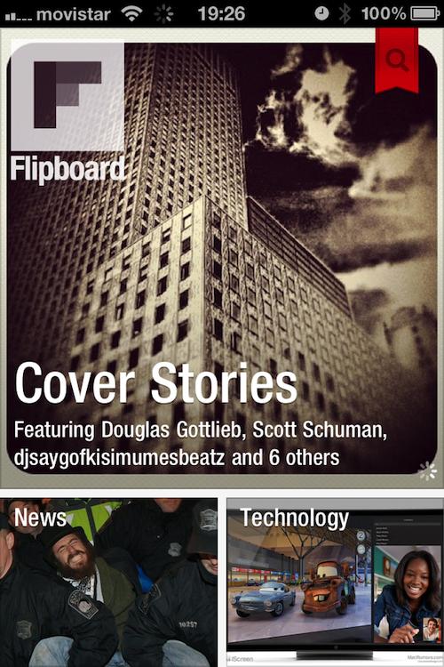 Magnifica tus tweets, muro de Facebook y entradas del blog con Flipboard (3/6)