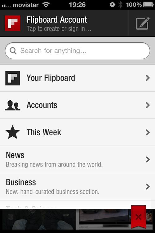 Magnifica tus tweets, muro de Facebook y entradas del blog con Flipboard (2/6)