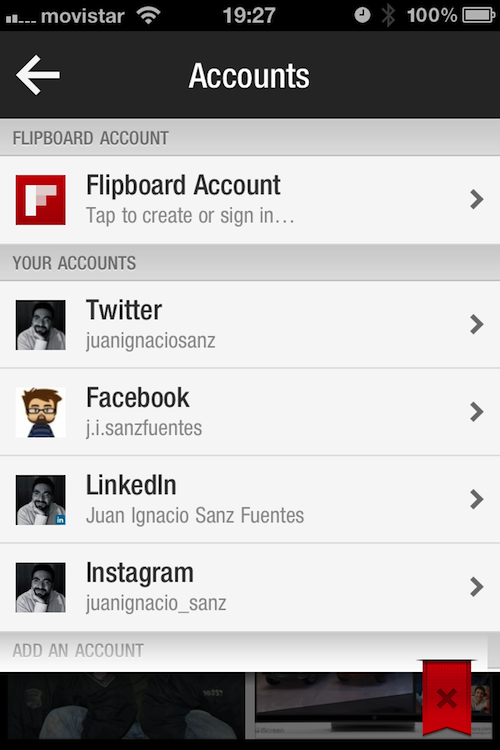 Magnifica tus tweets, muro de Facebook y entradas del blog con Flipboard (5/6)