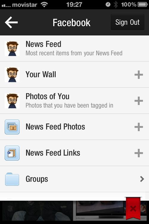 Magnifica tus tweets, muro de Facebook y entradas del blog con Flipboard (4/6)