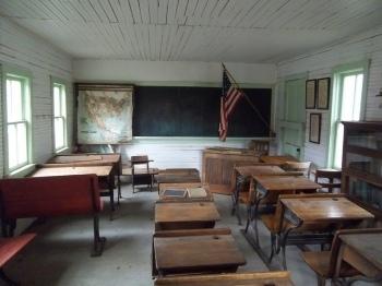 clase tradicional en una escuela americana