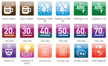 klout badges