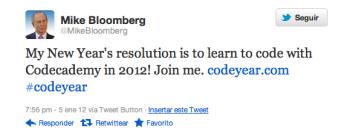 propósito de año nuevo de Michael Bloomberg